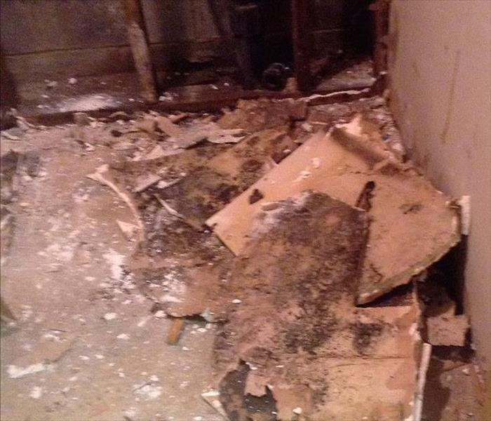 Water pipe Lake Carmel, NY causes water and mold damage Before