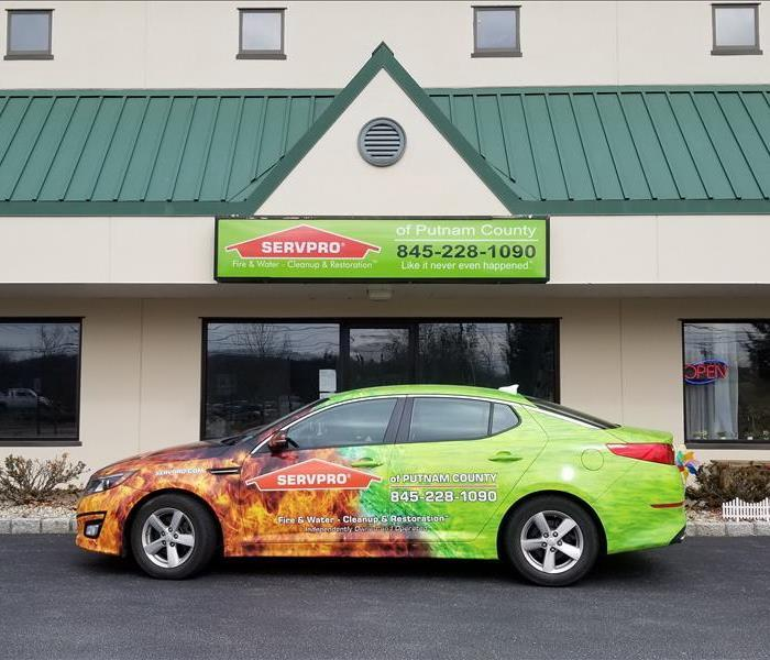 SERVPRO sales car at site